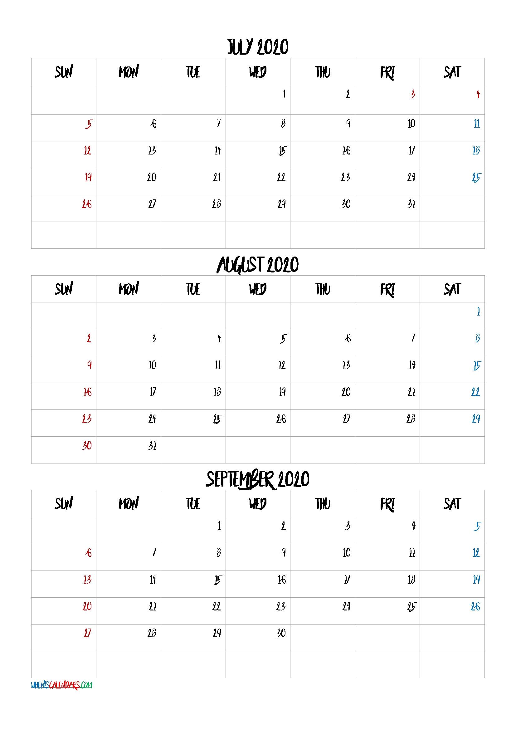 Take 3 Month Printable Calendar 2021 Sept Oct Nov