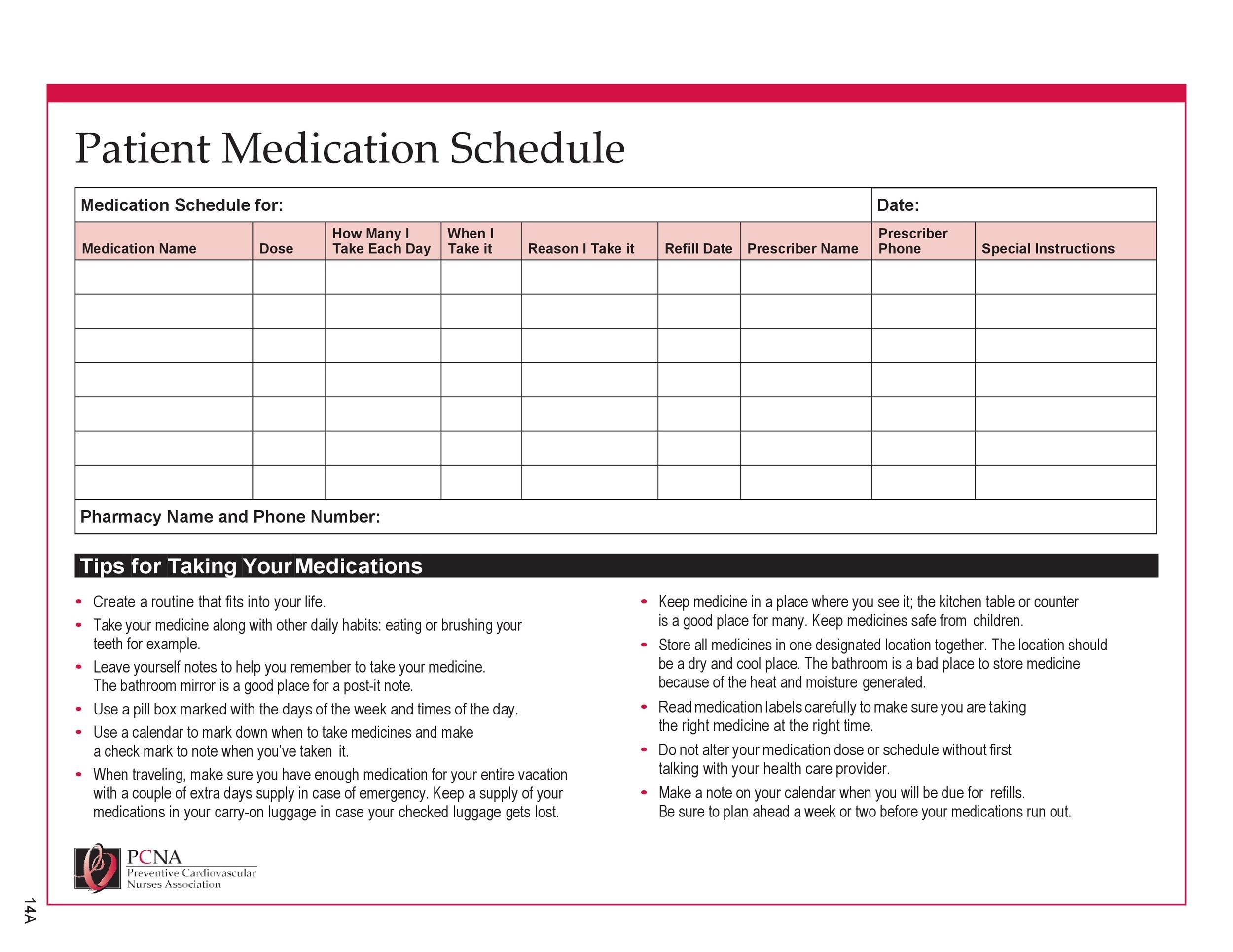 Take 30 Day Med Administation Paper