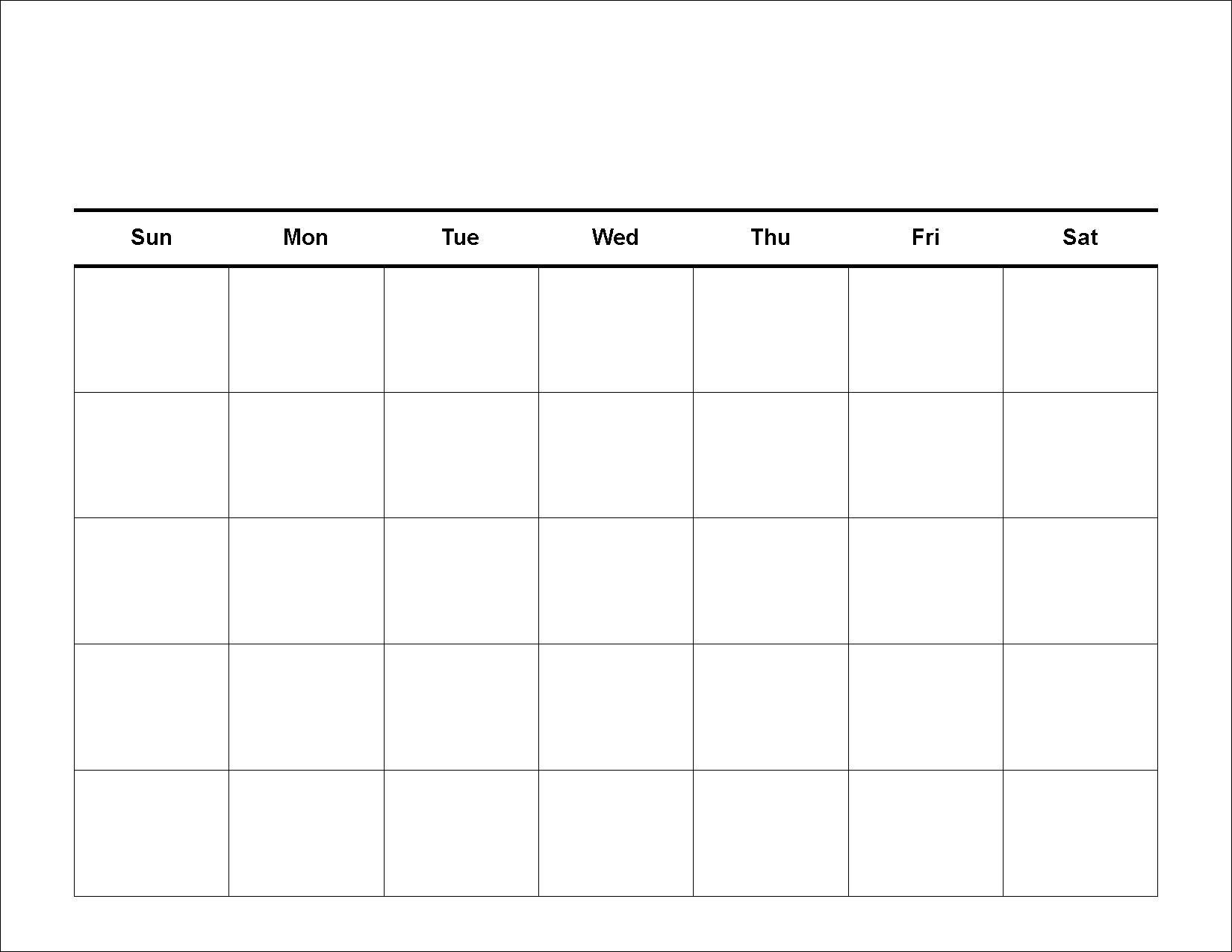 Take 4 Week Planing Calendar
