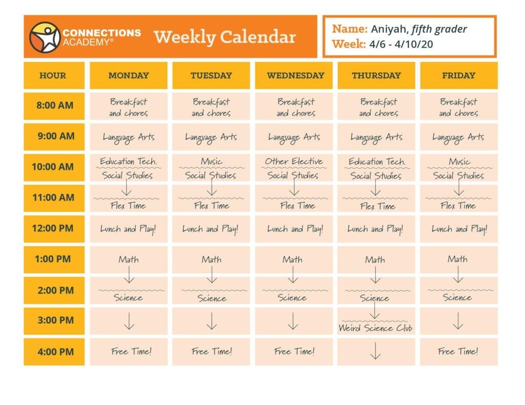 Take 5 Day School Timetable