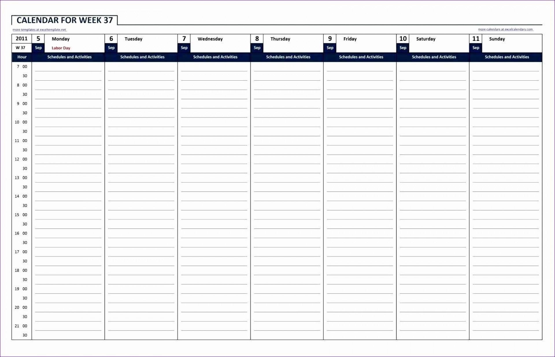 Take 52Weak Calendar Excel