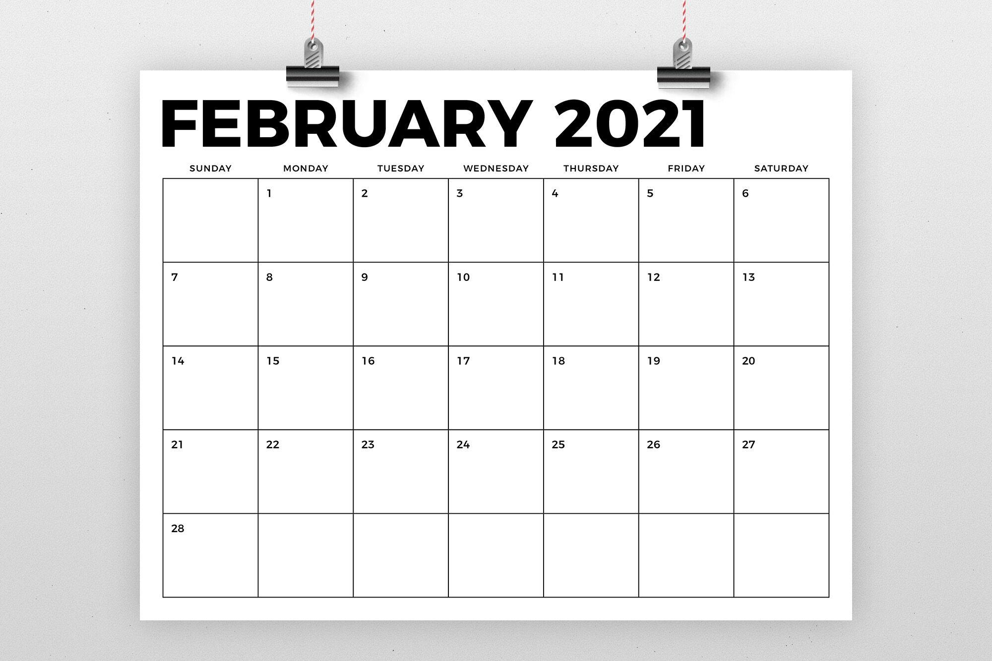 Take 8 By 11 Printable Calendar 2021
