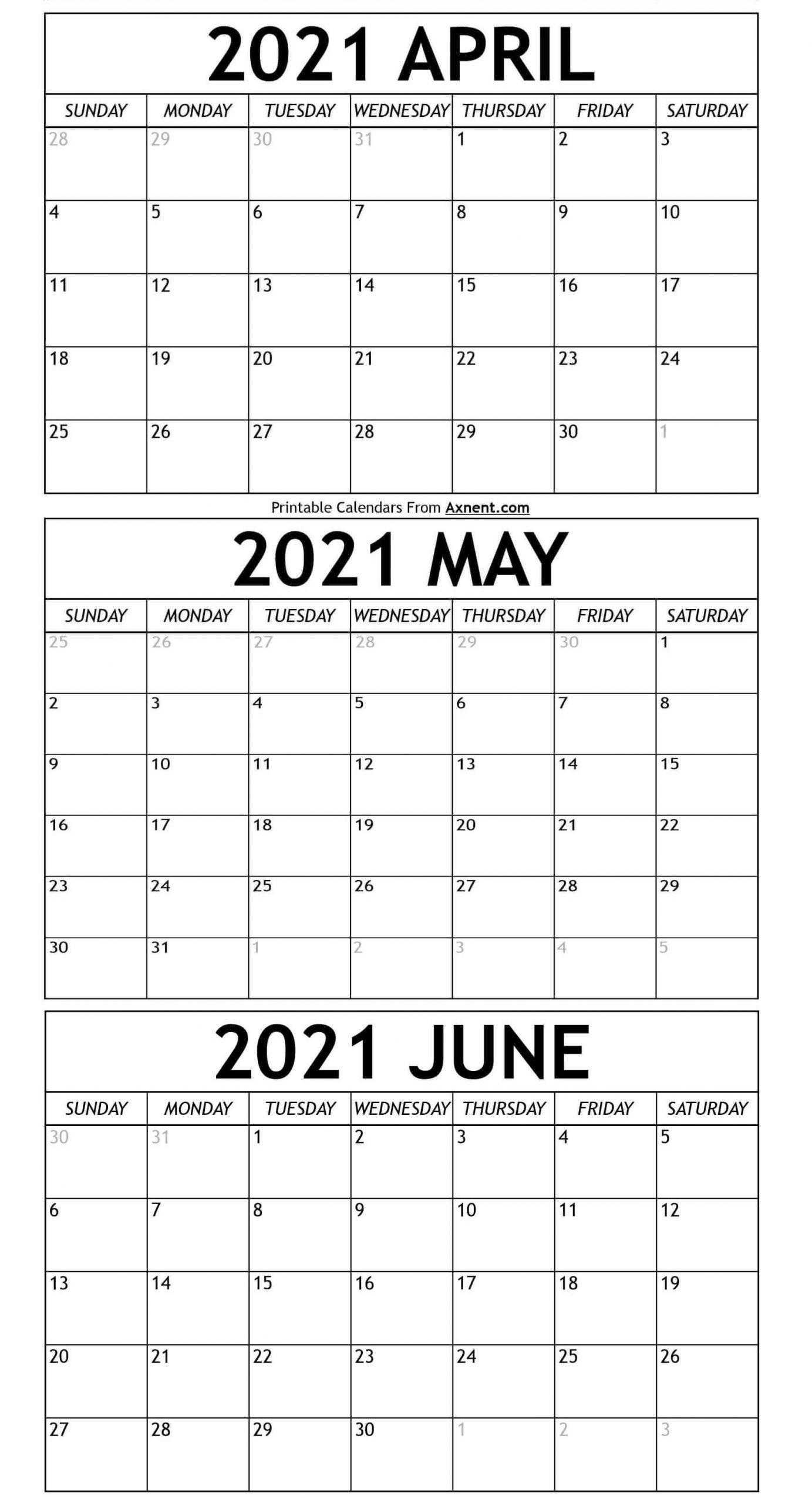 Take April May 2021