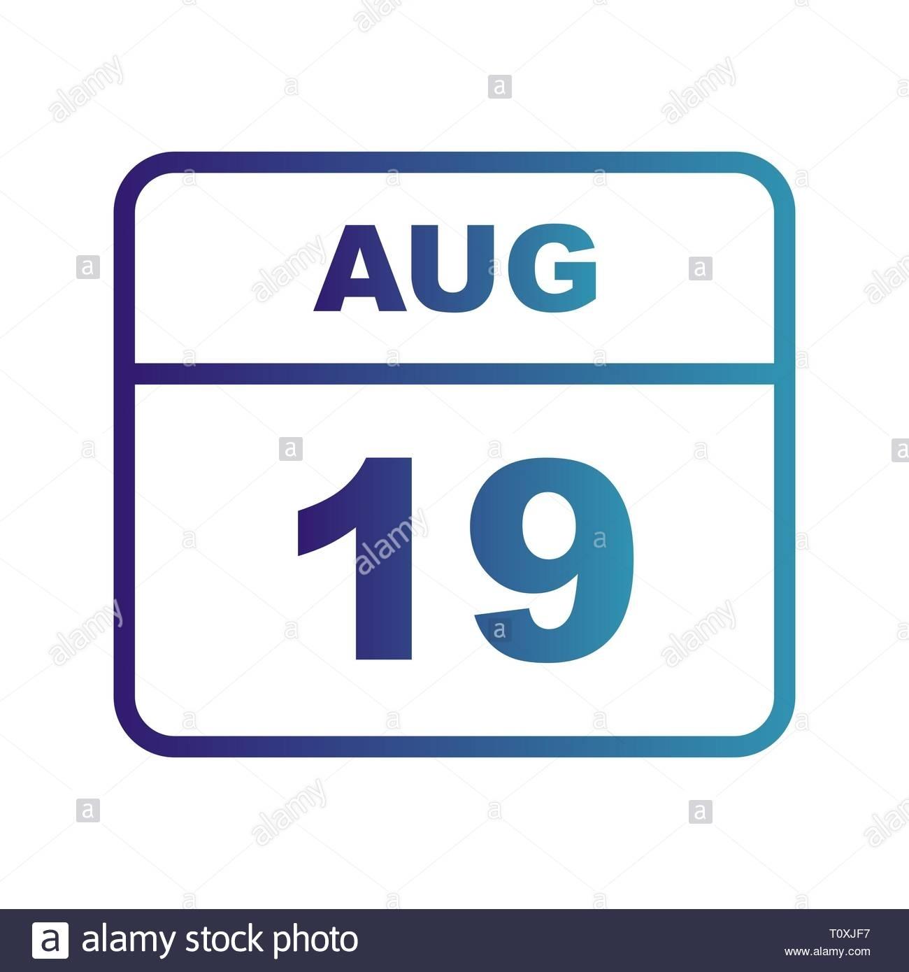 Take August 19 Calender