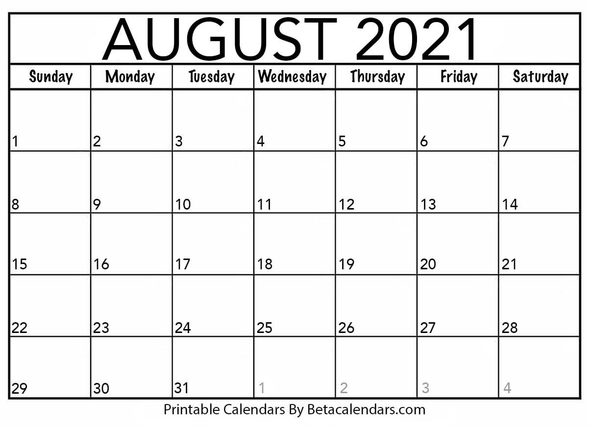 Take August 2021 Beta Calendar Weekly