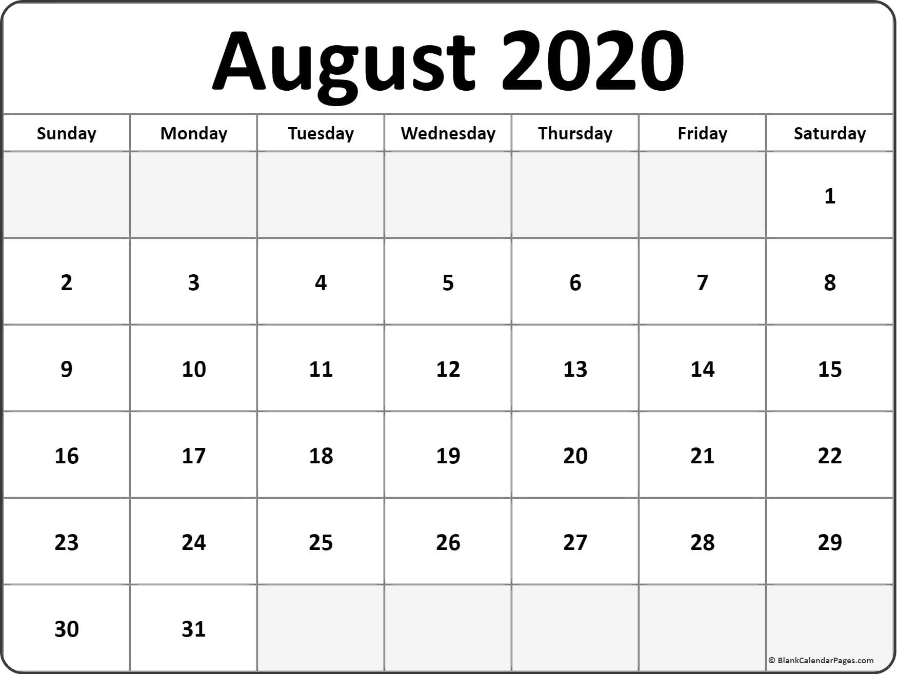 Take August Monthly Calendar Monday To Friday