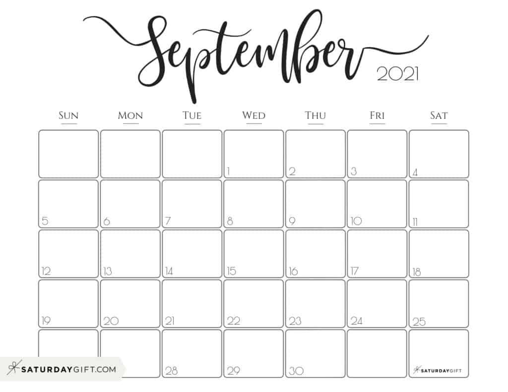 Take August September 2021 Calendar