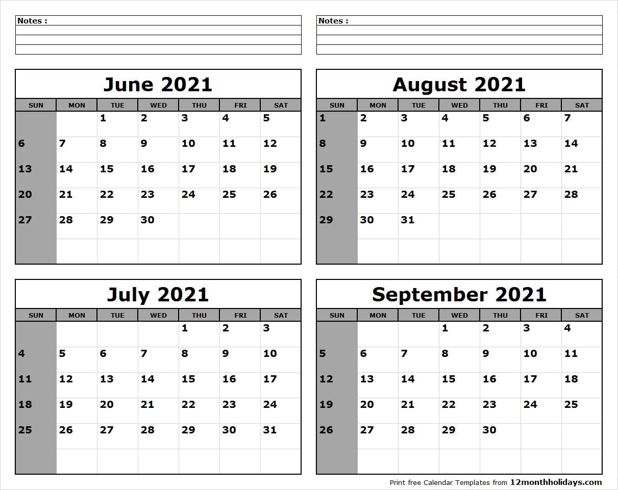 Take August/September 2021 Calendar