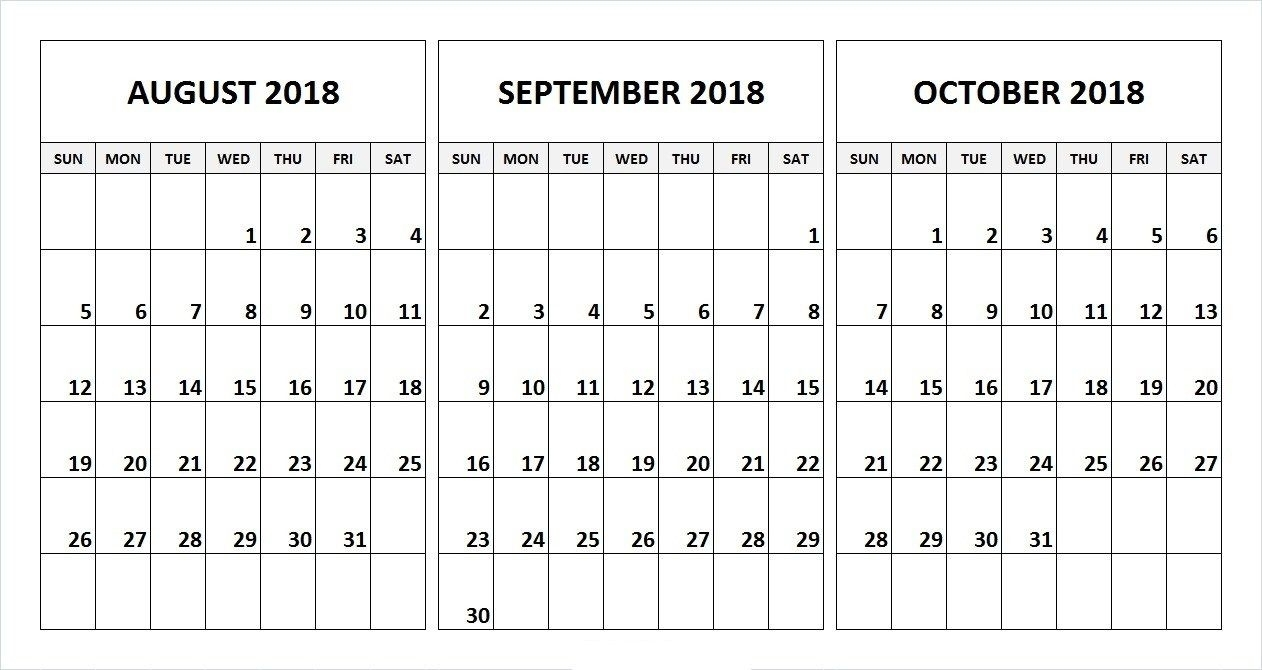Take August September And October