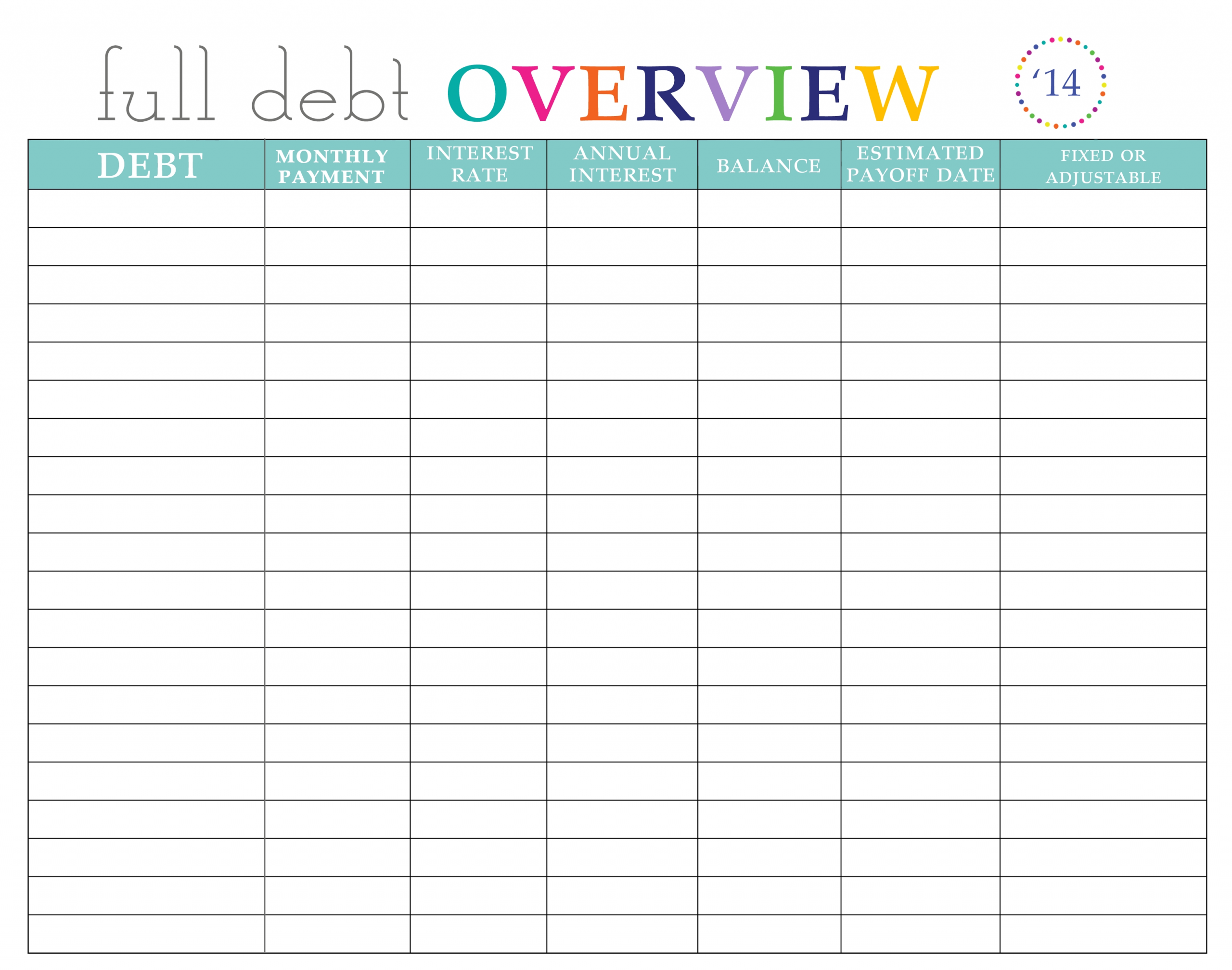 Take Bill Payment Worksheet Printable