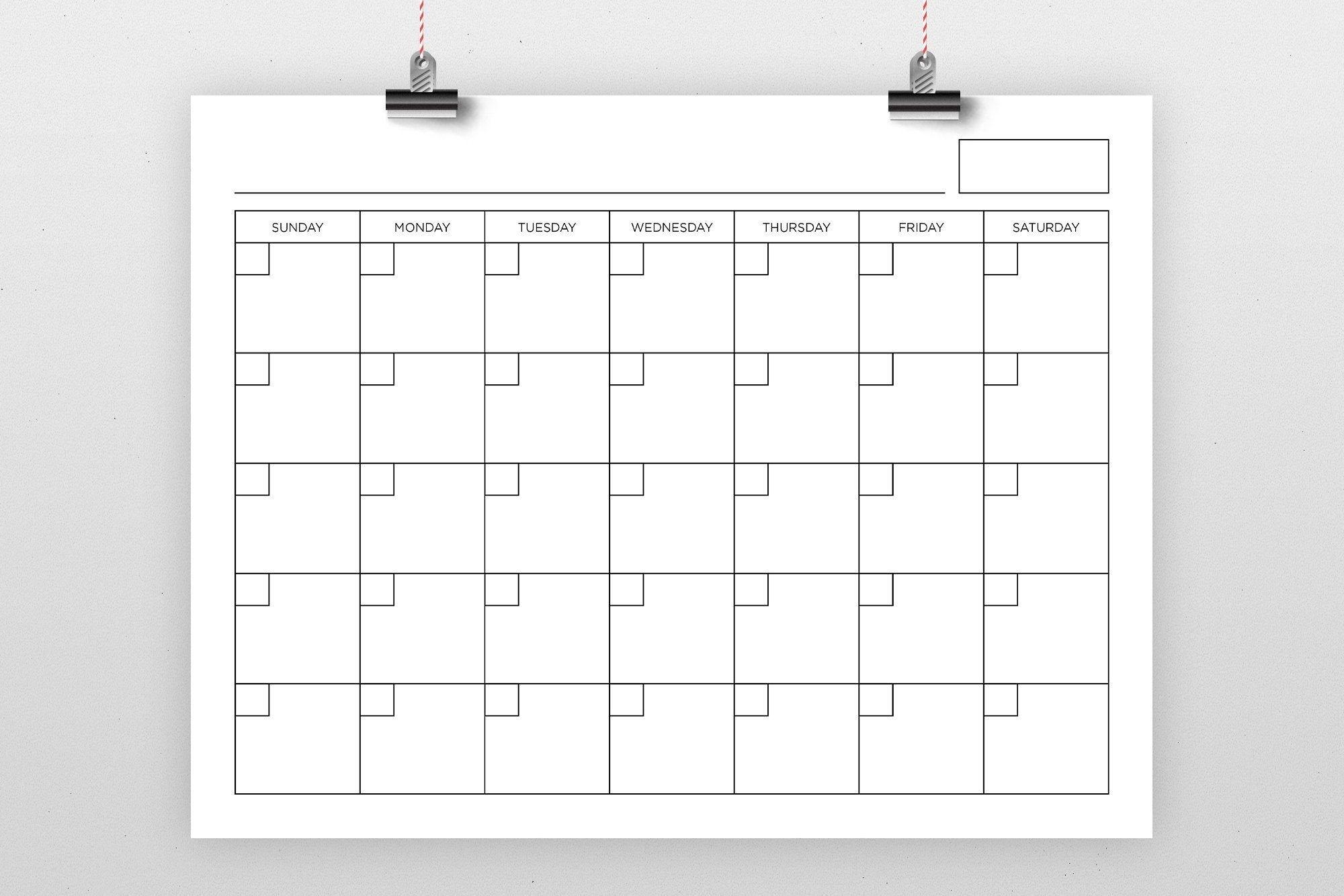Take Blank 8.5 X 11 Calendars