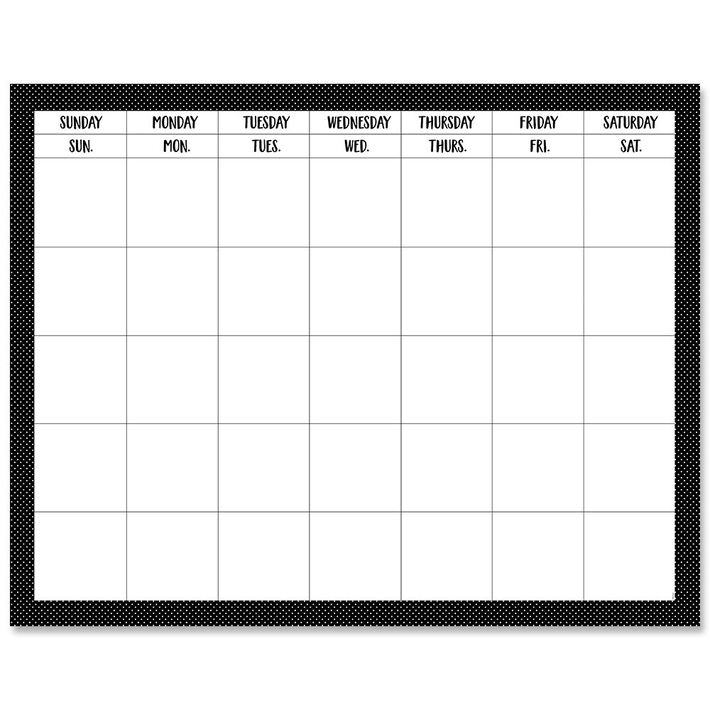 Take Blank Calendar Chart For Classroom