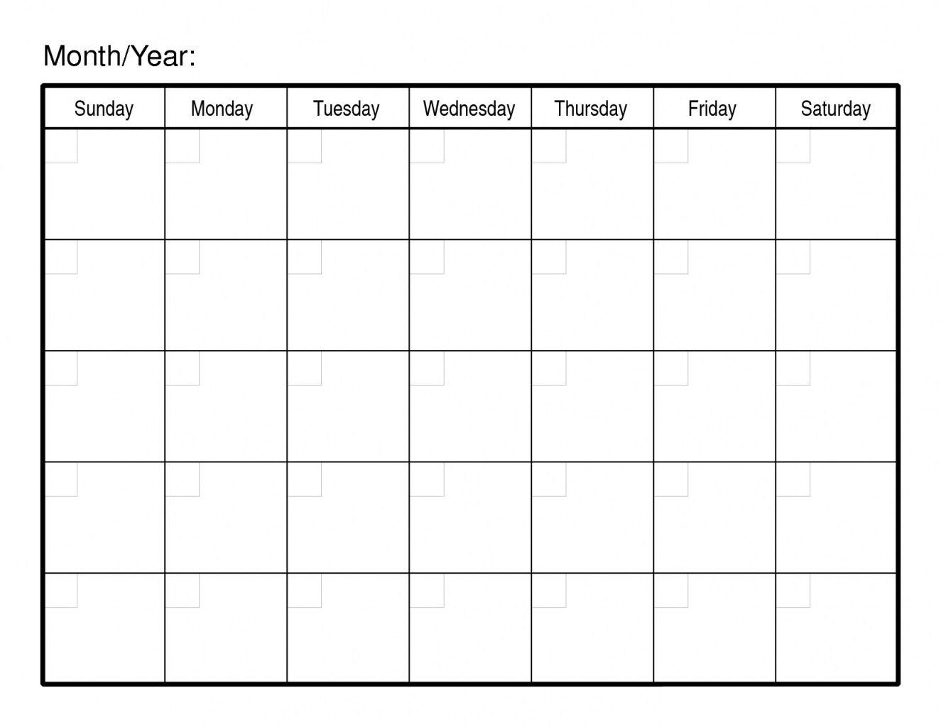 Take Blank Calendar Day