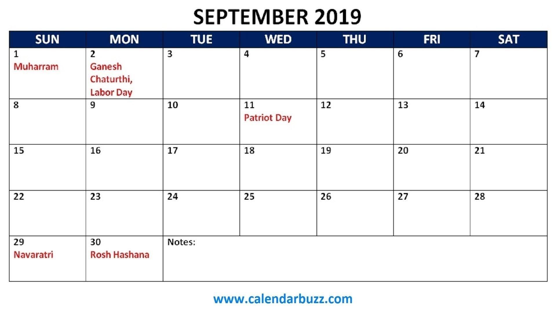 Take Blank Standard Calendar