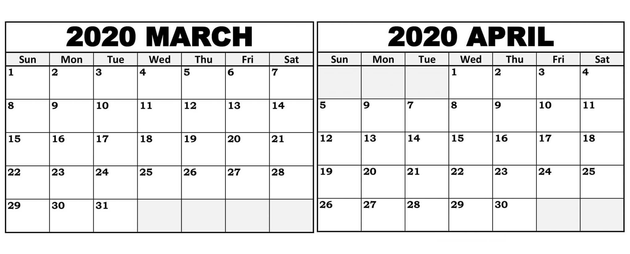 Take Calendar April To March