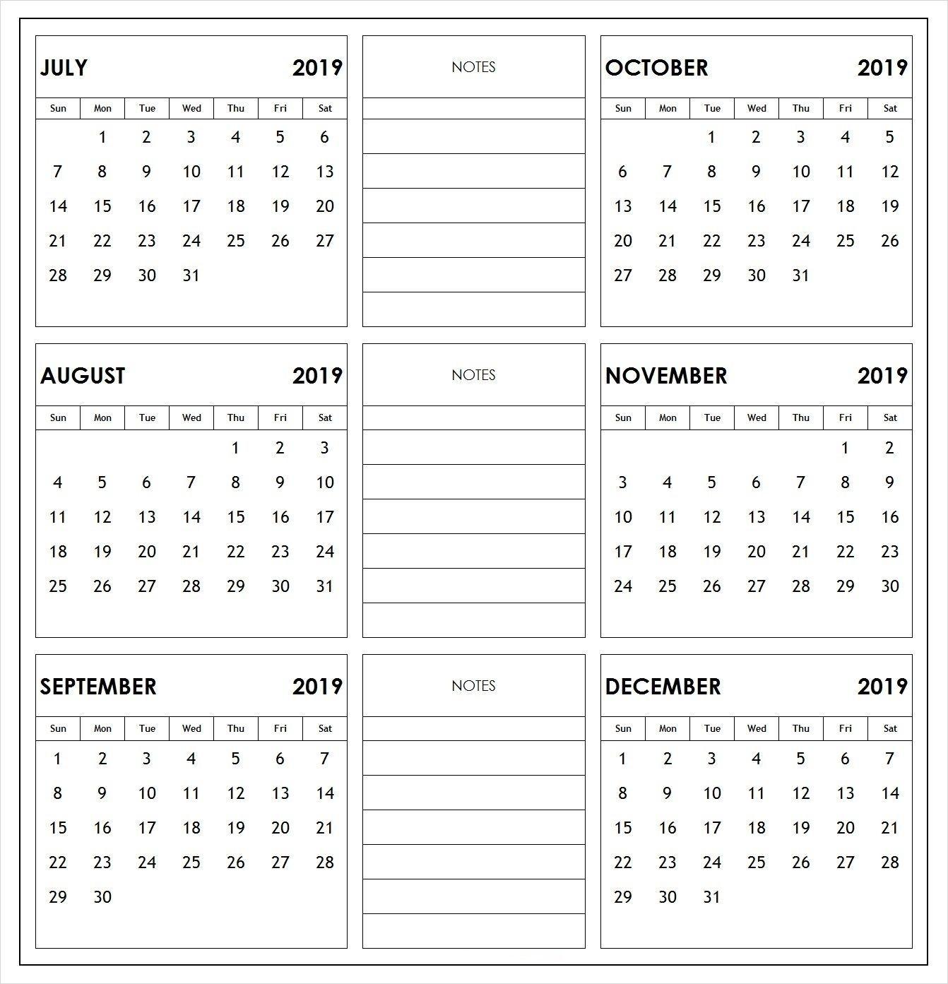 Take Calendar August Through December