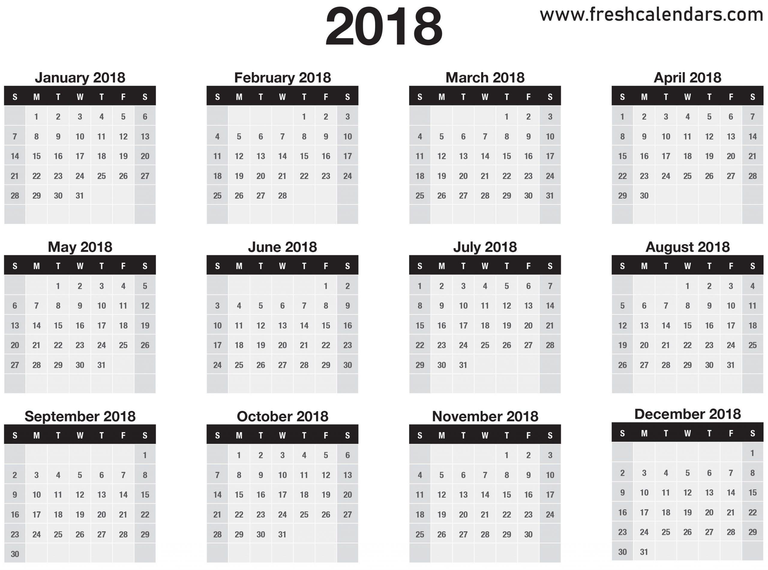 Take Calendar For All 12 Months