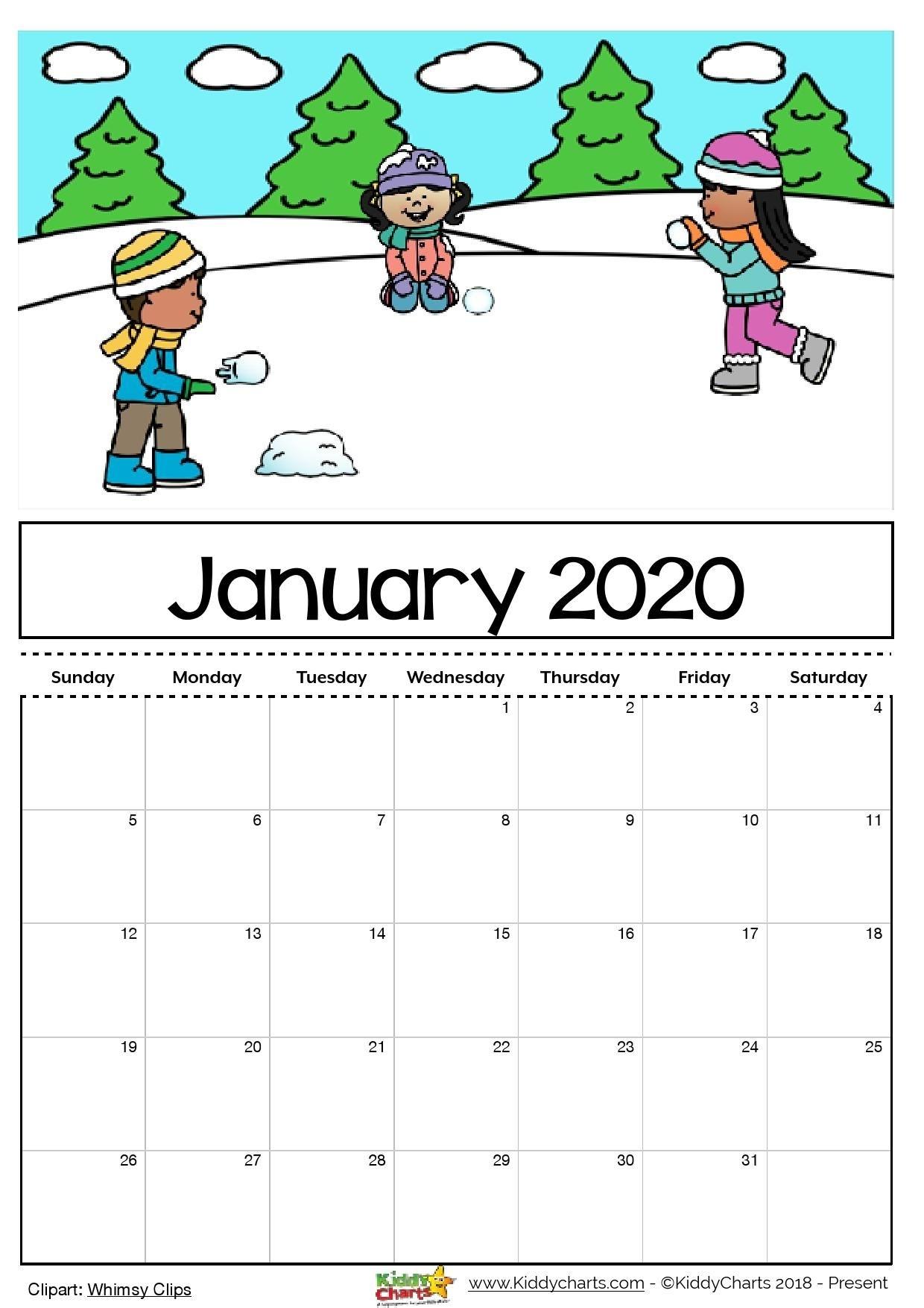 Take Calendar Free Printable For Kids