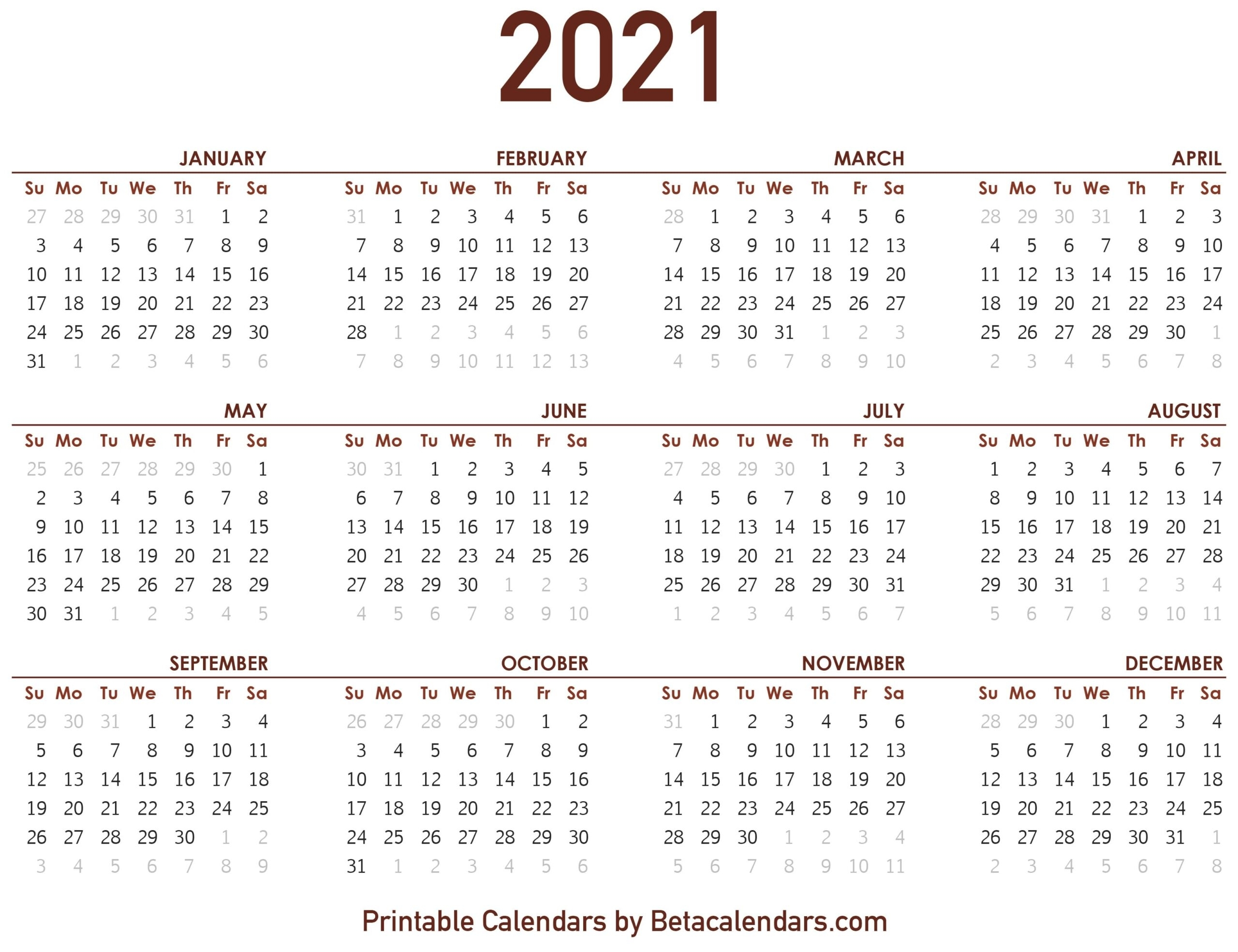 Take Calendar October Thru December 2021