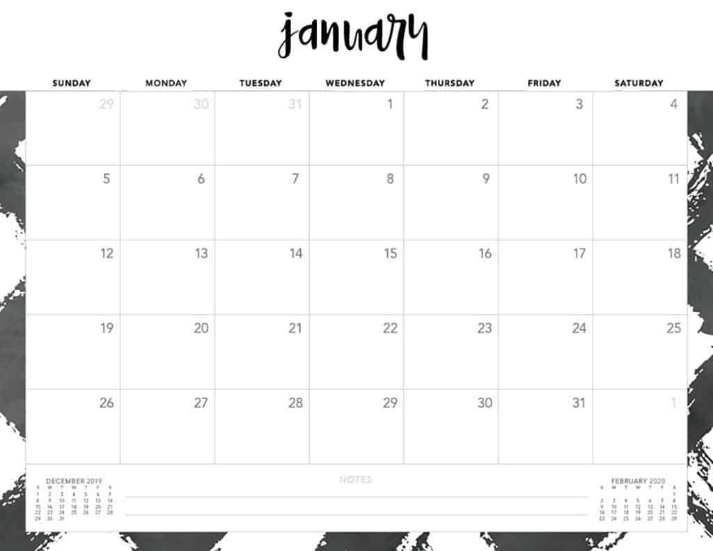 Take Calendar Print Monday