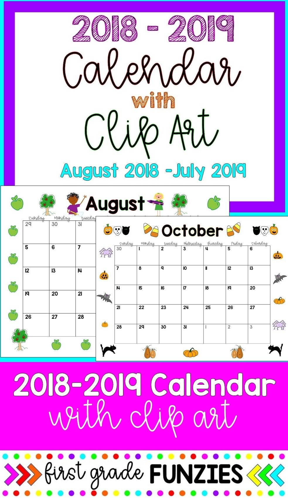 Take Calendar Template With Clip Art