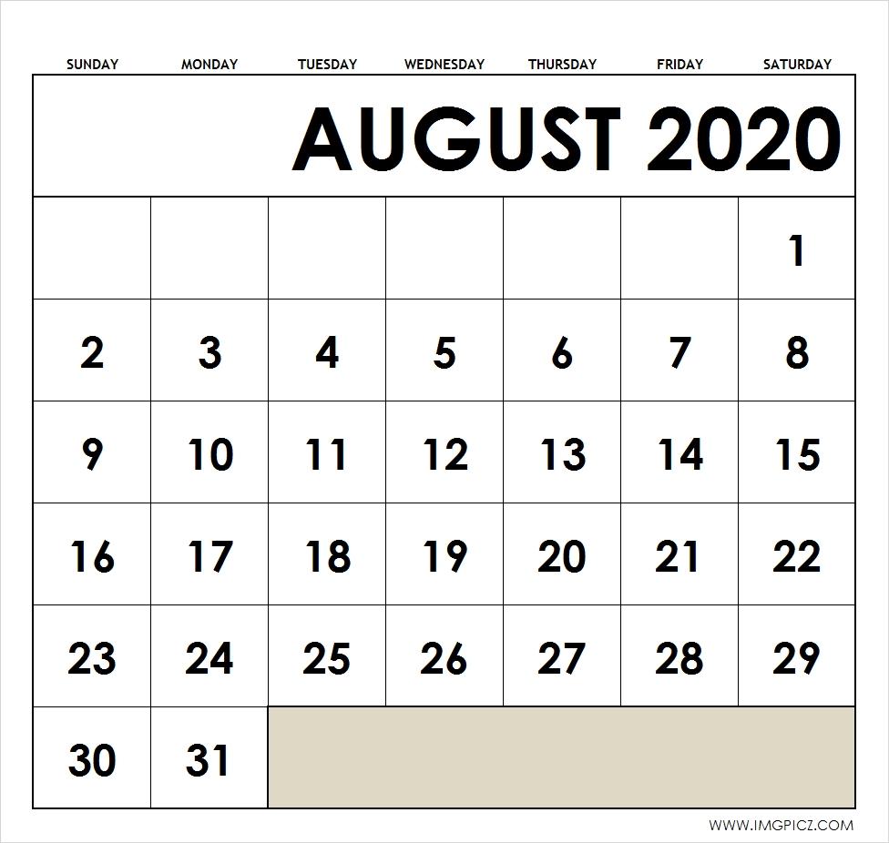 Take Calendar To Print August To Print