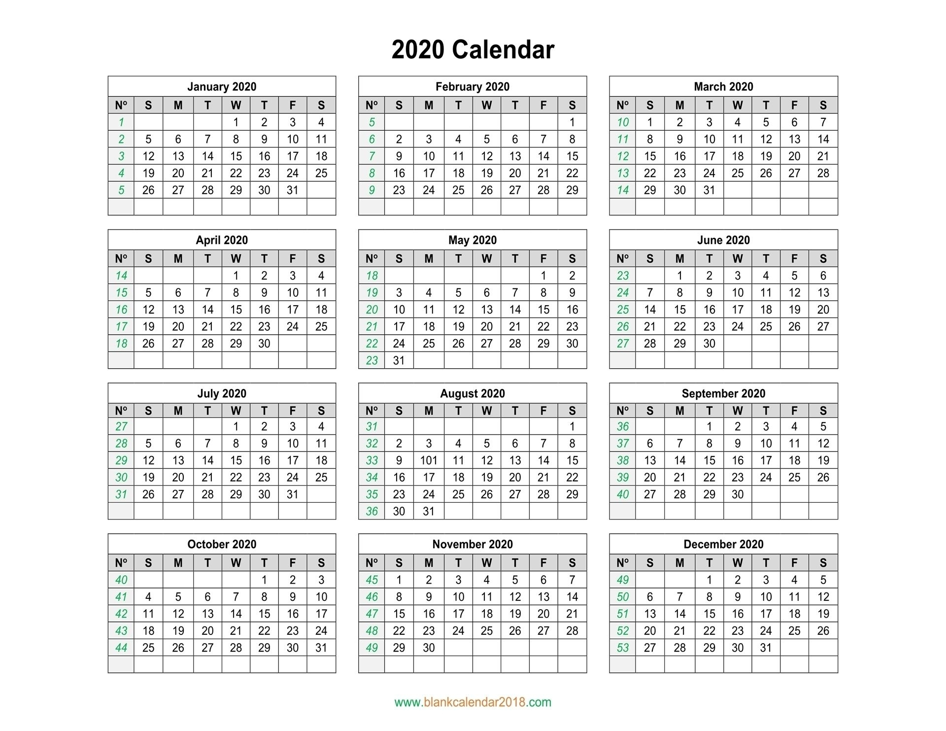Take Calendar With Days Numbered 2021