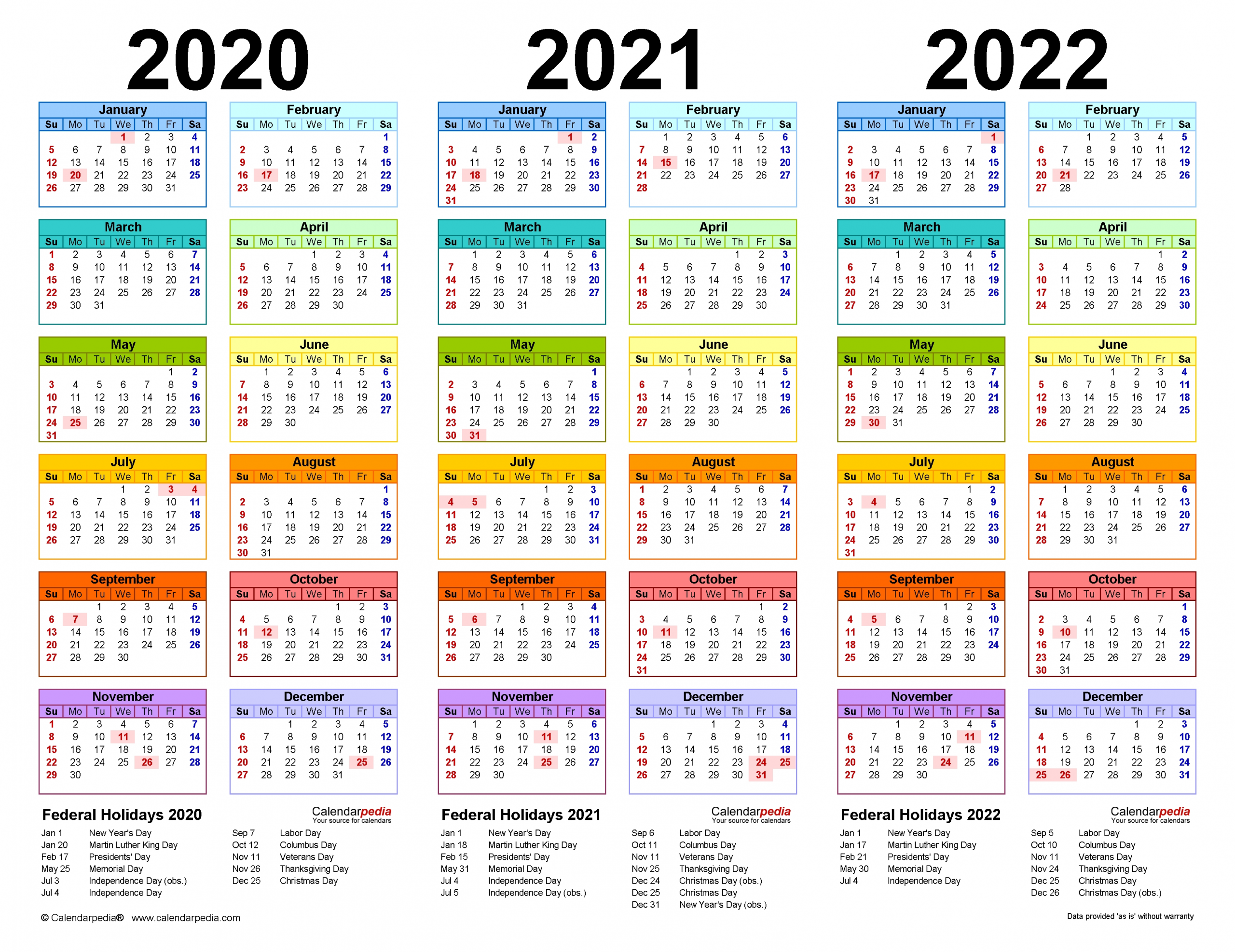 Take Calendars For The Years 2021 2021 & 2022