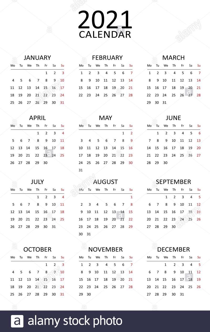 Take Calender 2021 Week Start Monday