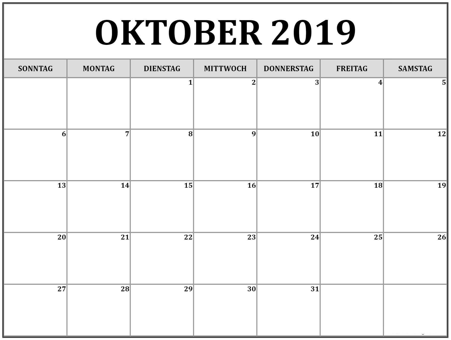 Take Calender Vorlage Monat