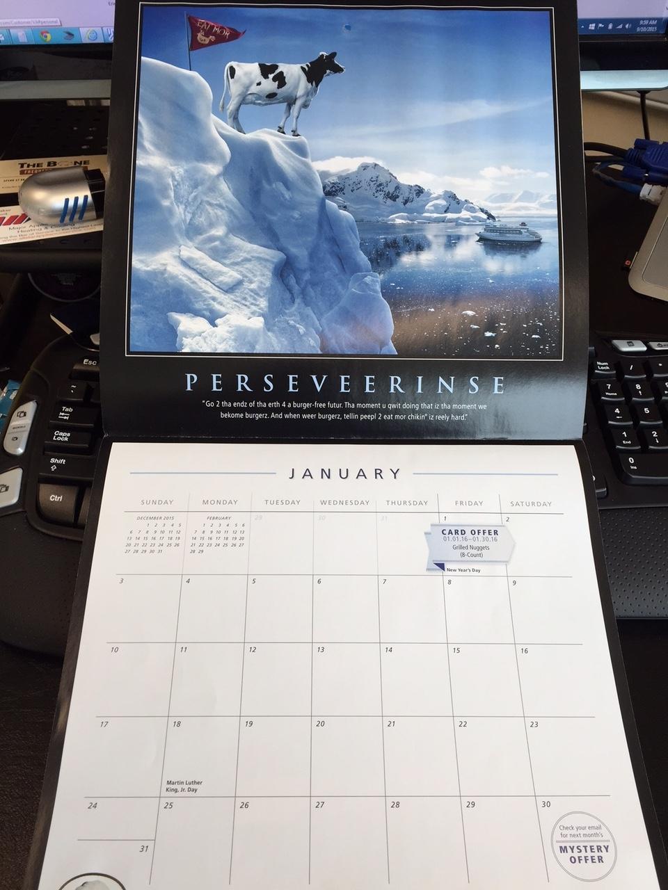 Take Chick Fil A Calendars
