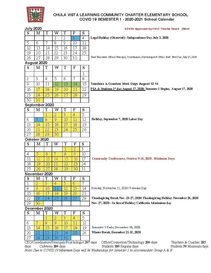 Take Chula Vista Elementary School Calendar 2021