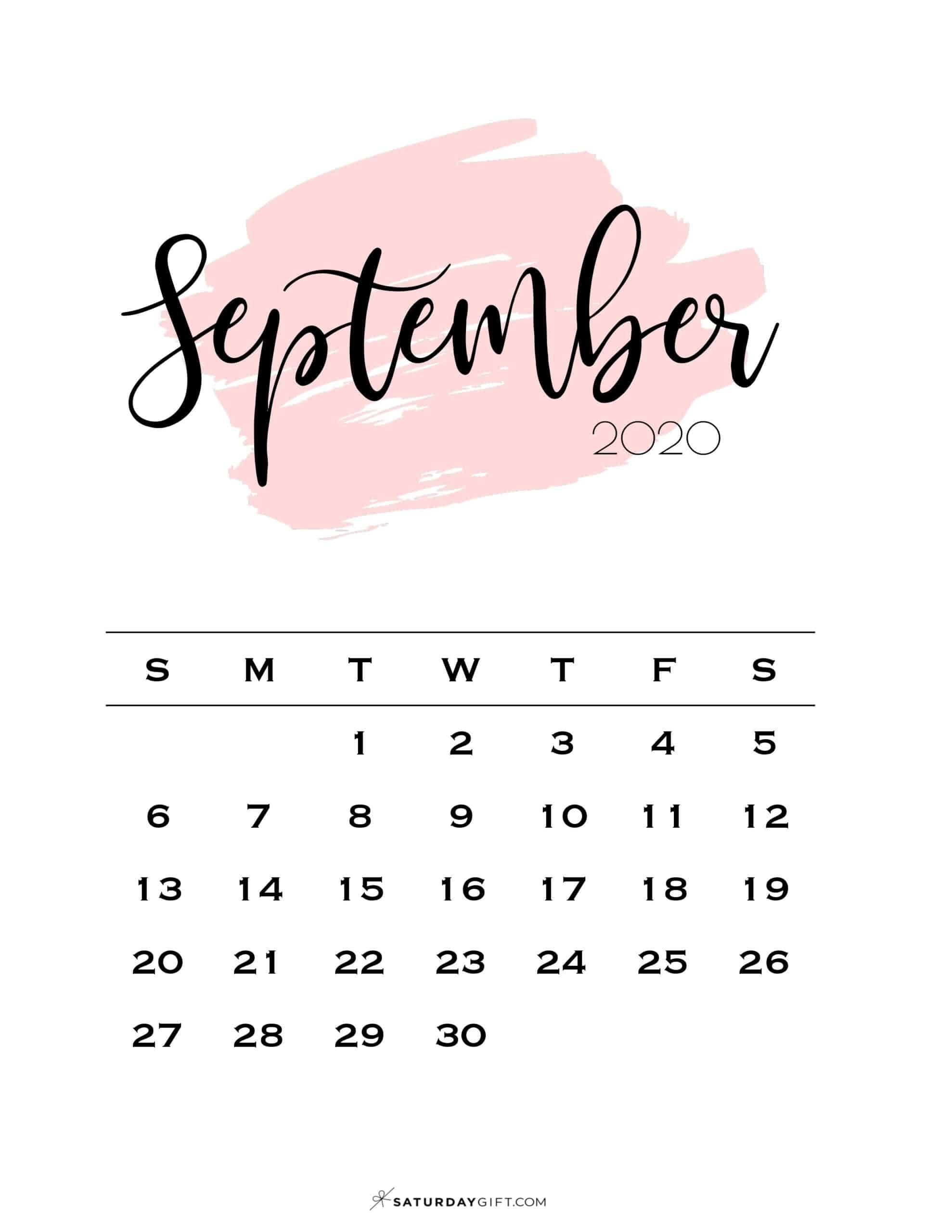 Take Clip Art Calendar Page Septeber 2021