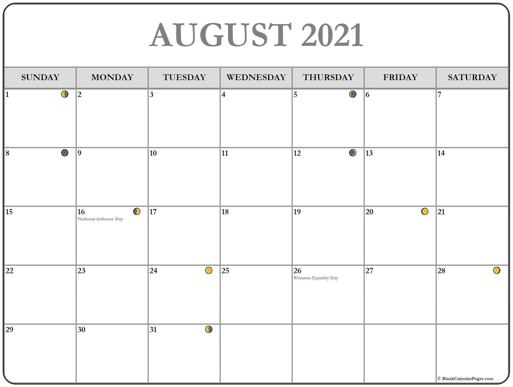 Take Cycle Of The Moon August 2021