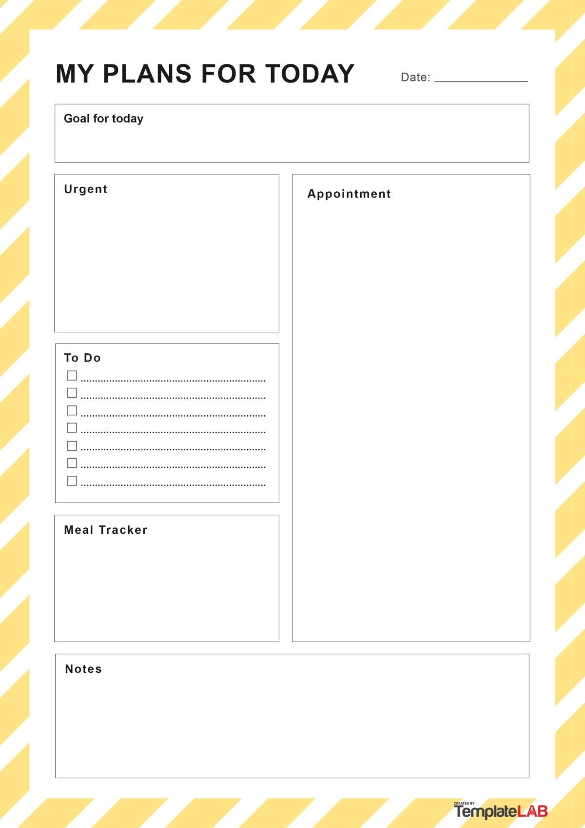 Take Daily Organizer Free Printable Template