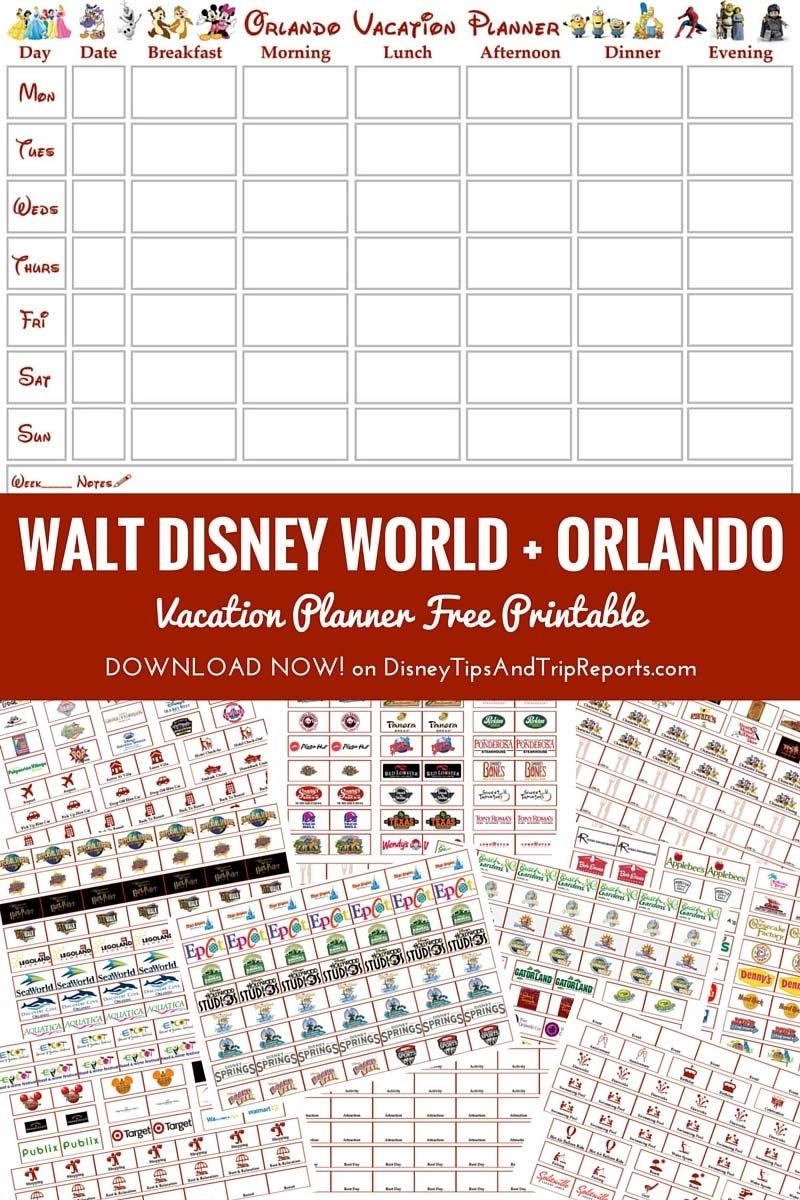 Take Disney Vacation Itinerary Template