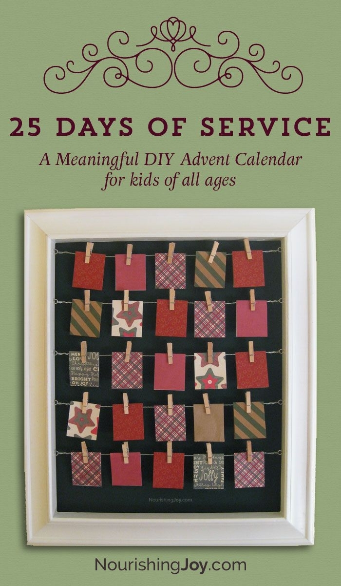Take Diy Advent Calendars Verses And Figures
