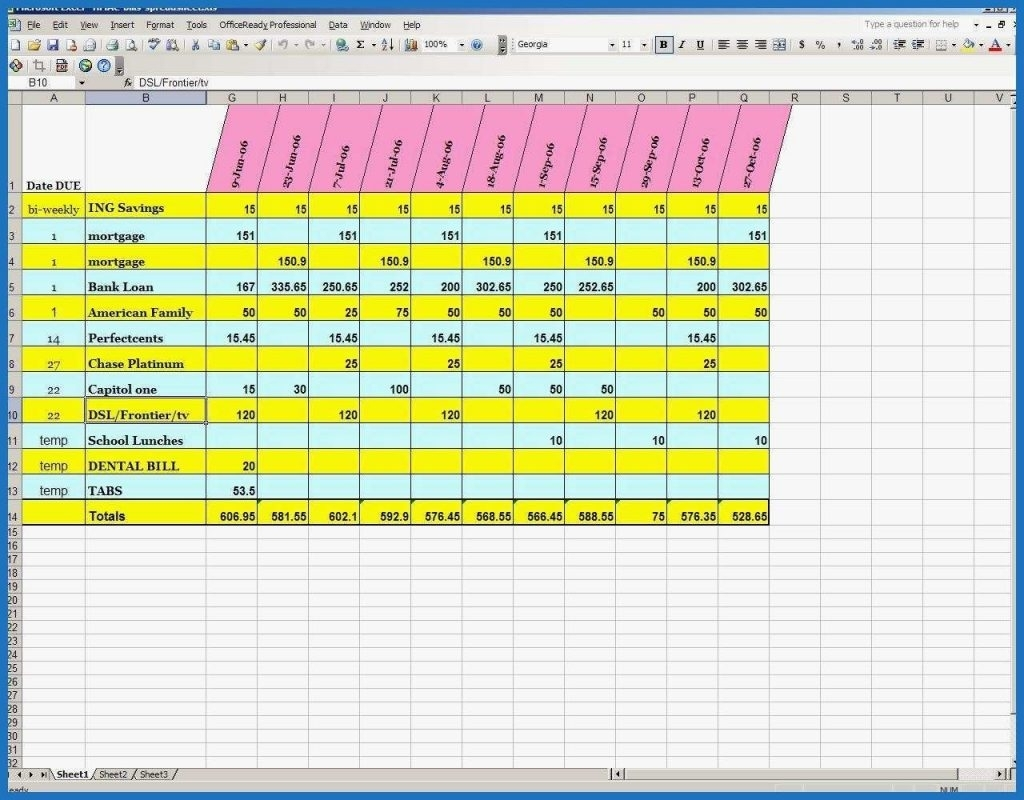 Take Excel Bill Roganizer