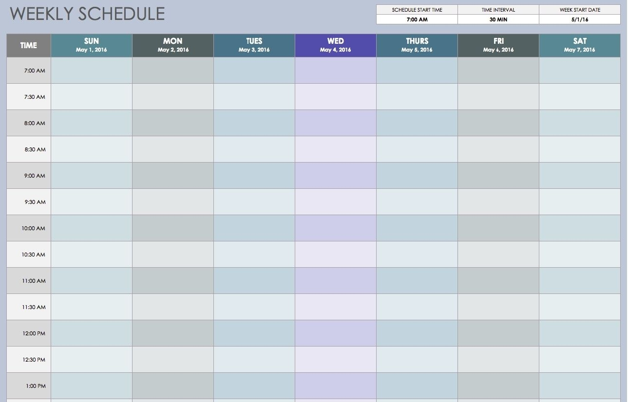 Take Excel Schedule Tempalte 15 Min