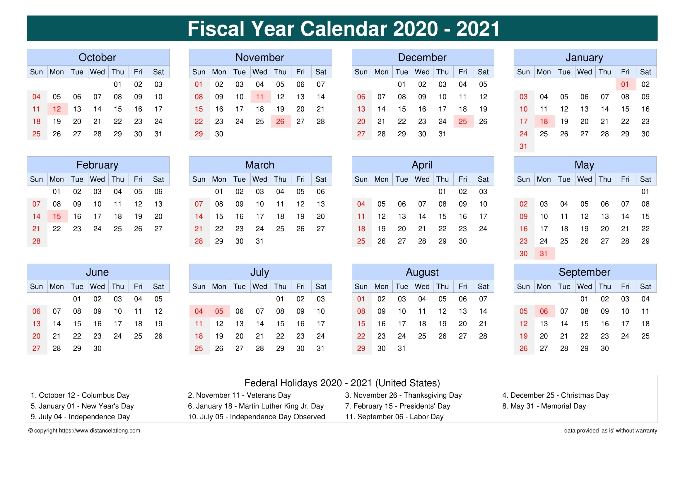 Take Financial Fiscal Weeks
