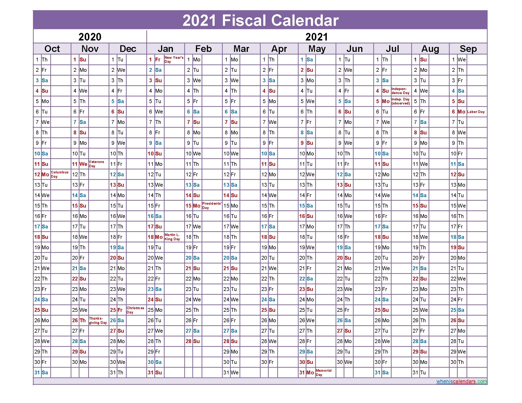 Take Fiscal Calendar 2021 2021