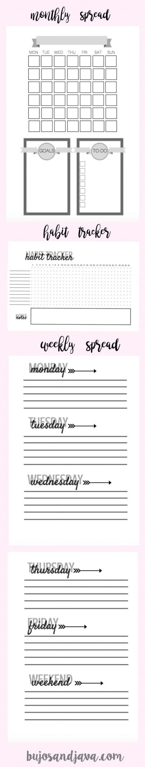 Take Free 5X8 Weekly Planner Printables