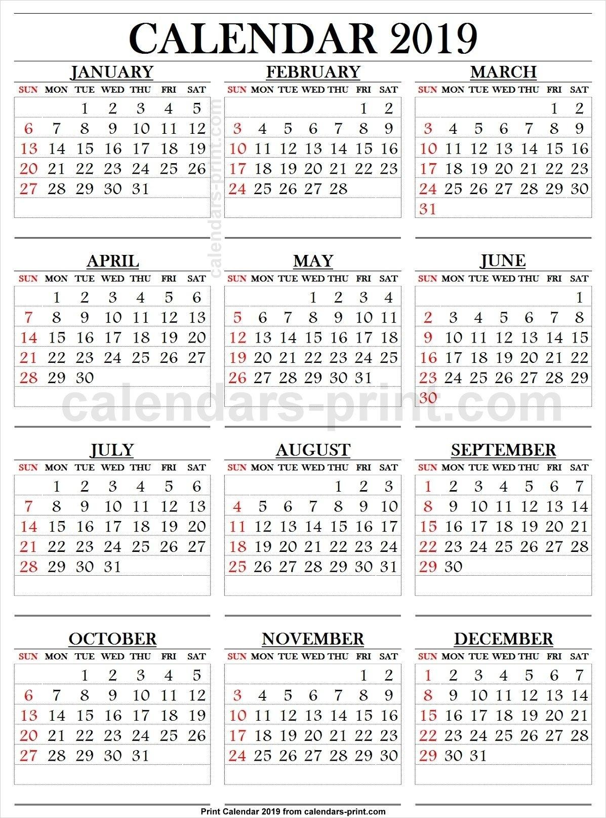 Take Free Large Number Printables Calendar