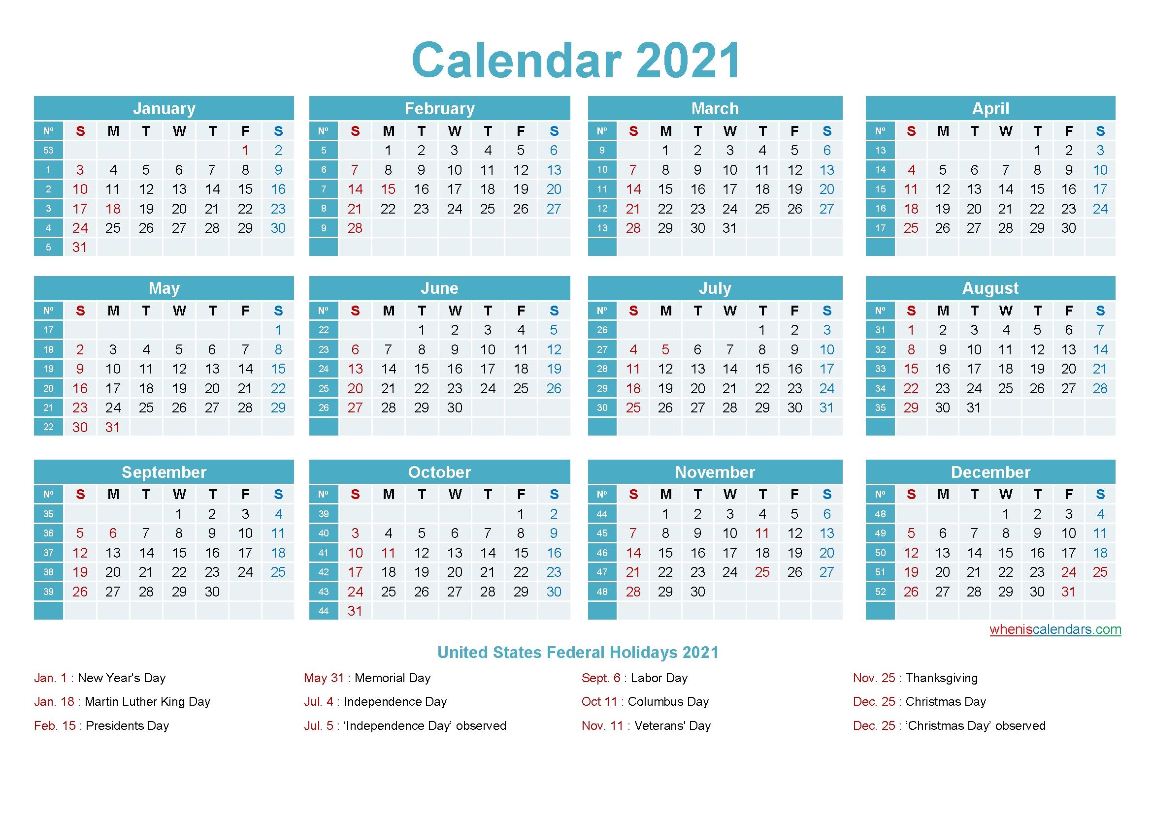 Take Free Microsoft Calendar Templates 2021