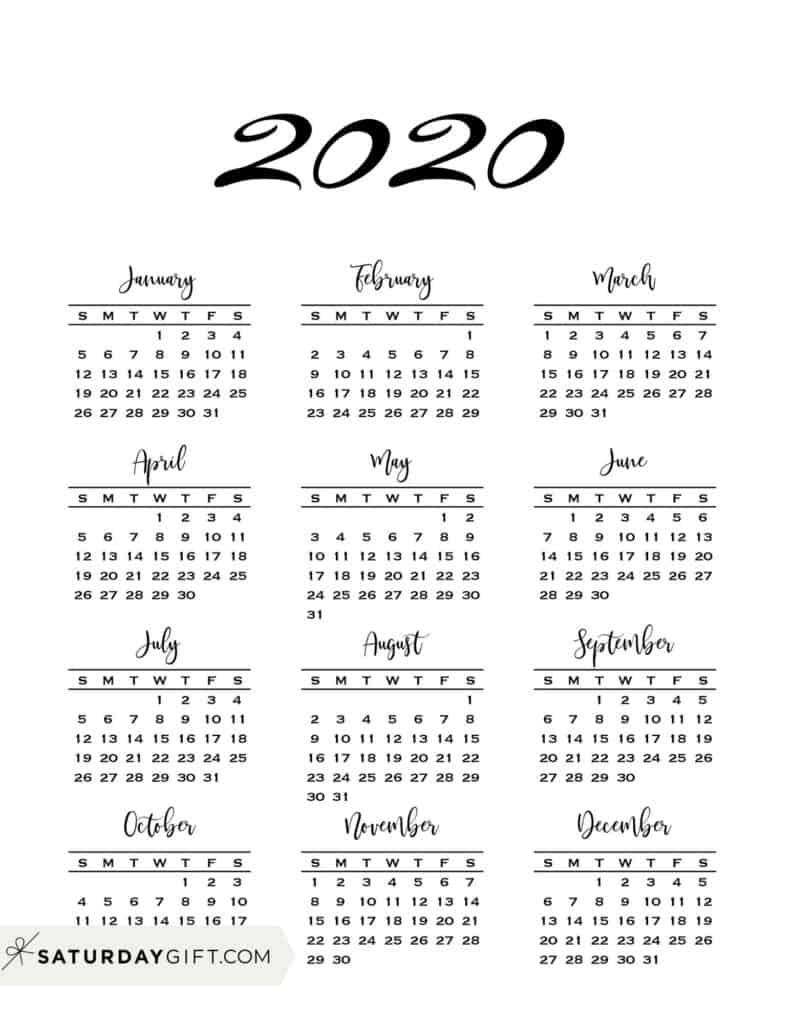 Take Free Month At A Glance 2021 Calendar