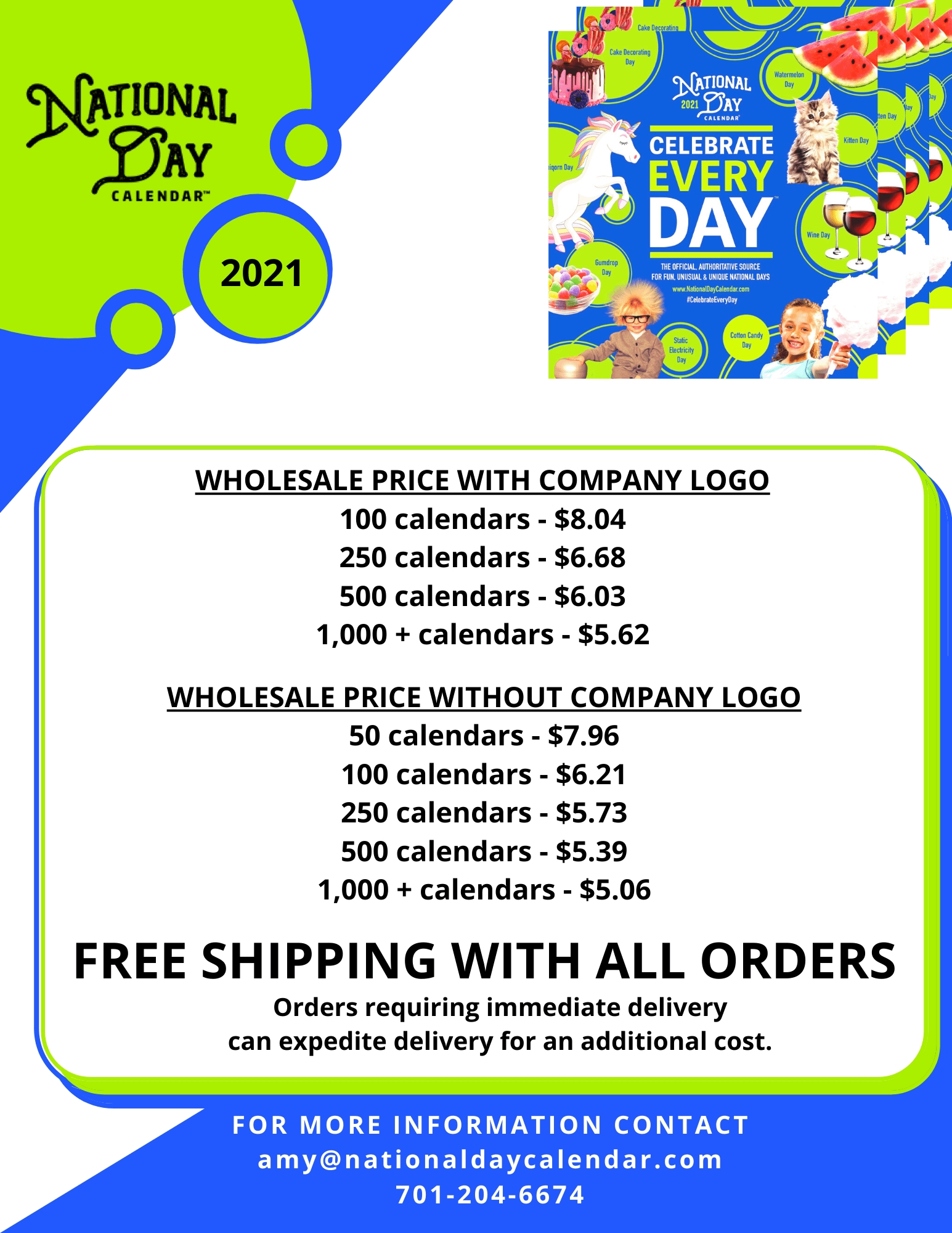 Take Free National Day Calendar 2021