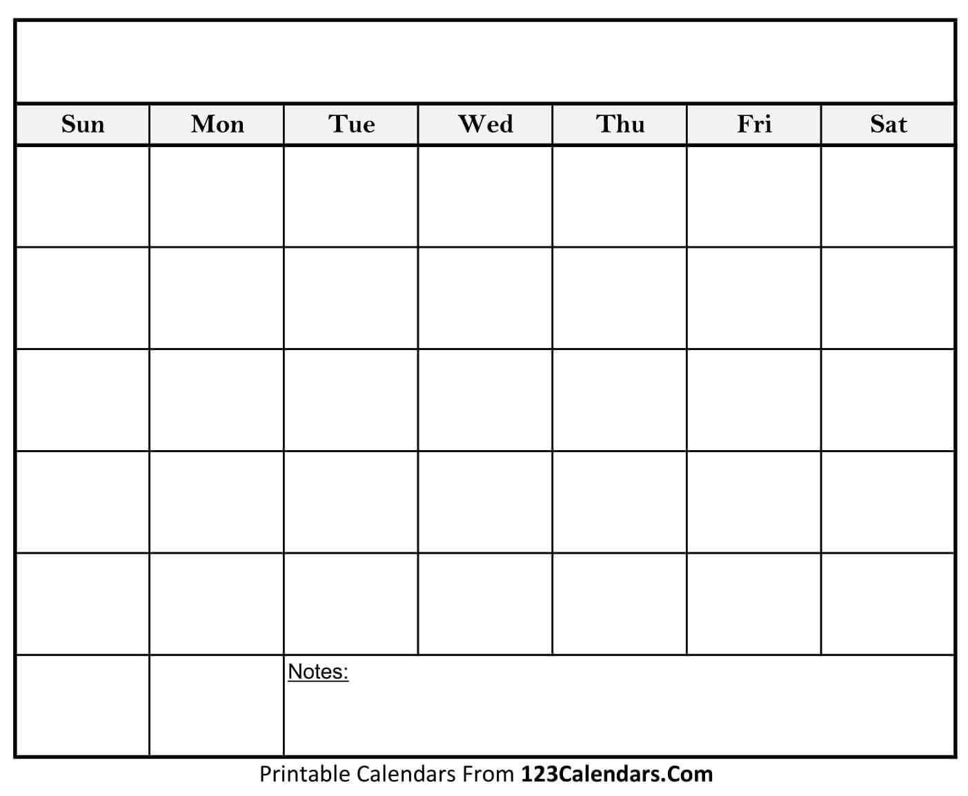 Take Free Printable Blank Calendar Template