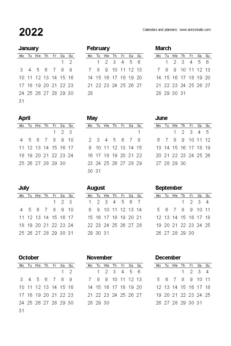 Take Free Printable Calendar 2022 And 2023
