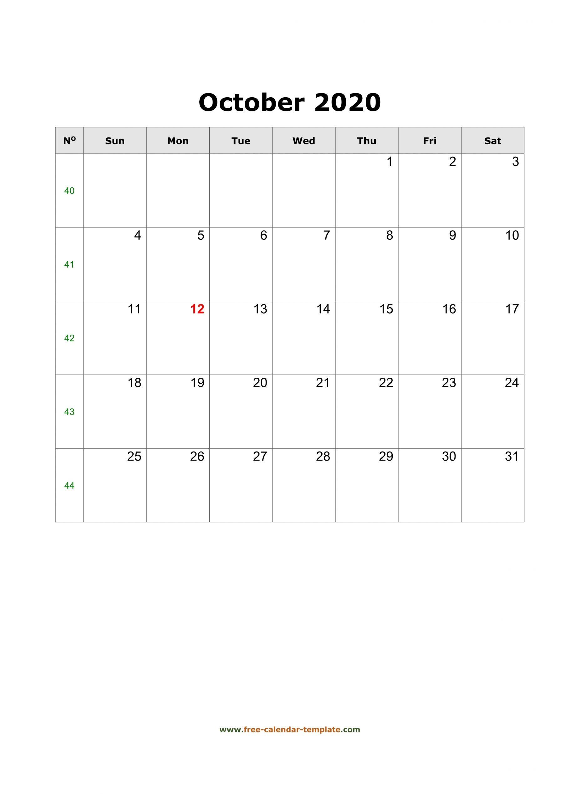 Take Free Printable Calendar With Big Boxes