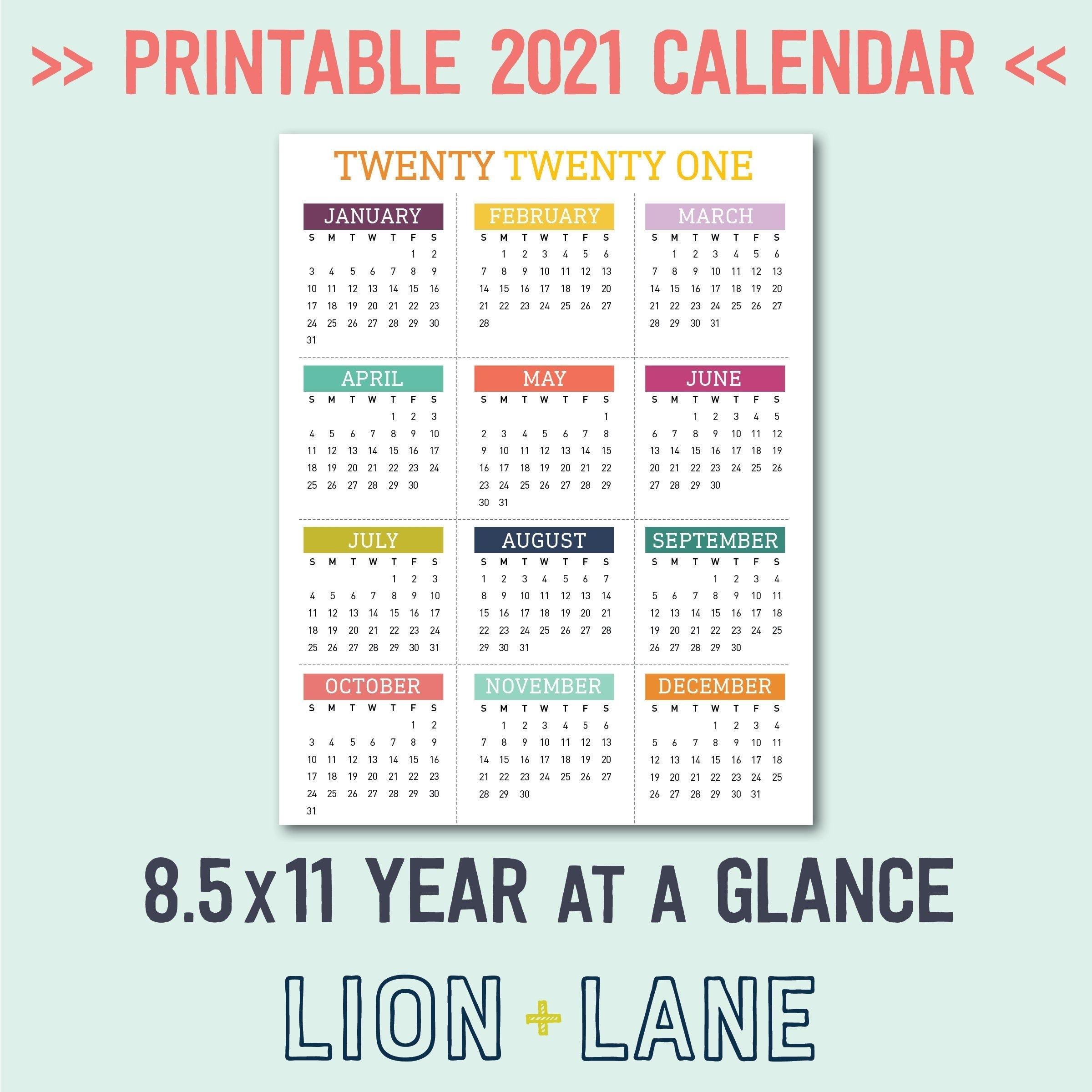Take Free Printable December 2021 8.5 X 11